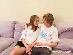 19yo Horny Teen Couple Having Hot Hardcore Sex