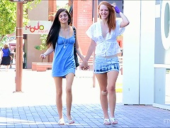 19yo Two Lesbian Chicks Are Touching Each Other